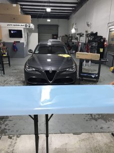 Alfa Romeo Giulia Gets Window Tint and Paint Protection Film 4