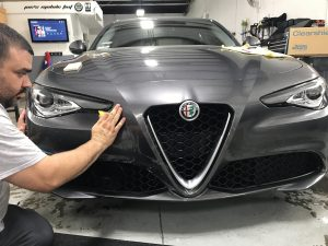 Alfa Romeo Giulia Gets Window Tint and Paint Protection Film 5