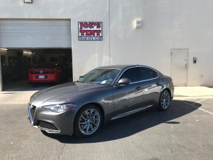 Alfa Romeo Giulia Gets Window Tint and Paint Protection Film