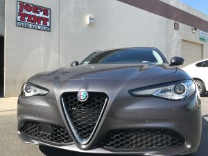Alfa Romeo Giulia Gets Window Tint and Paint Protection Film 6