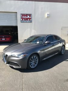 Alfa Romeo Giulia Gets Window Tint and Paint Protection Film 8
