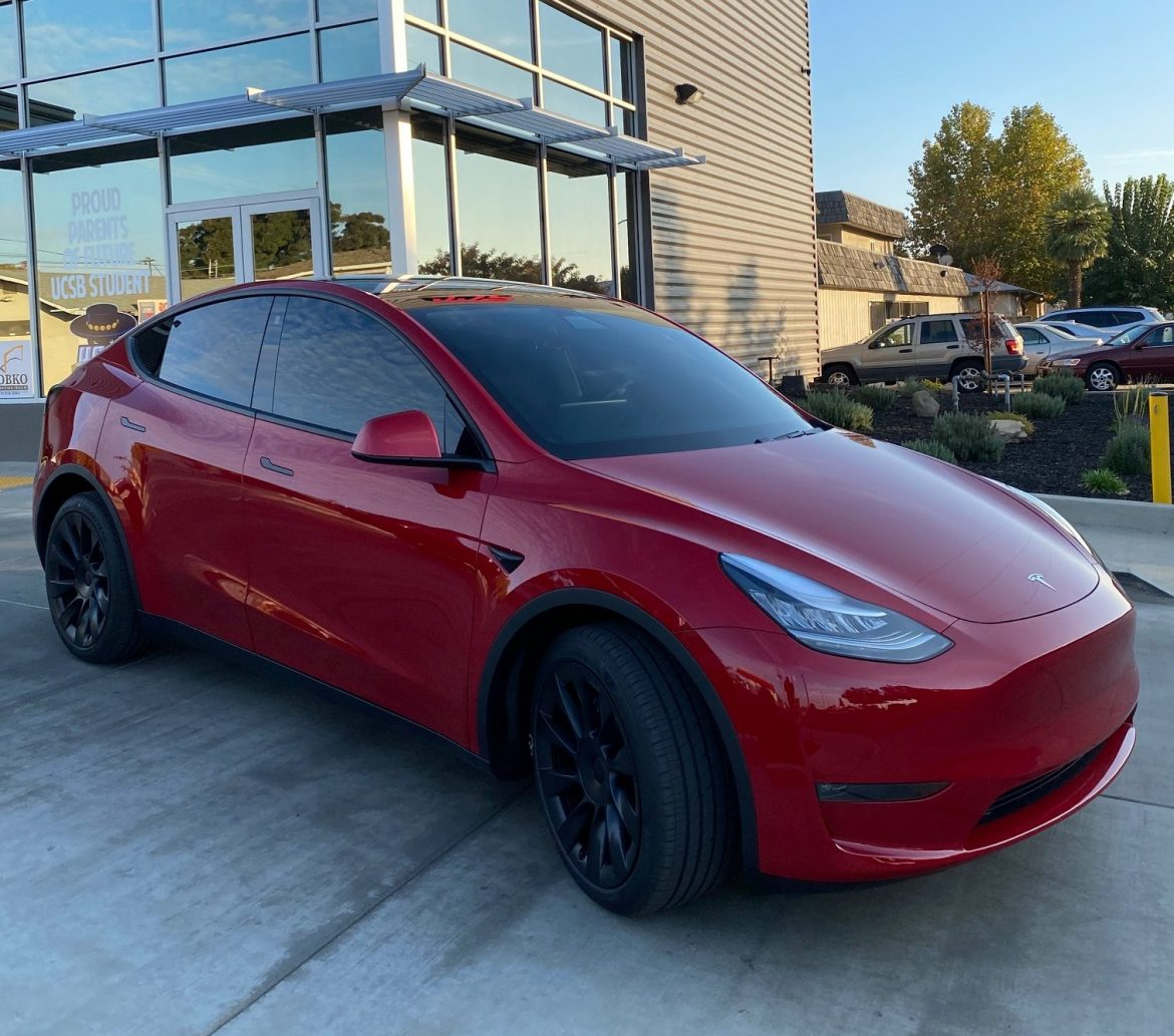 2021 Tesla Model Y Gets Window Tint Upgrade by Joe's Mobile Tint - Automotive Window Tinting in the Madera, California Area